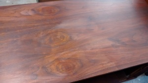 Credenza top showing age spots